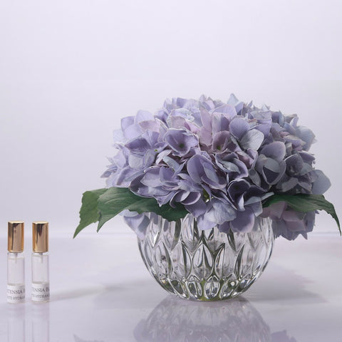 Cote Noire - Hydrangeas Clear Glass - The Furniture Store & The Bed Shop