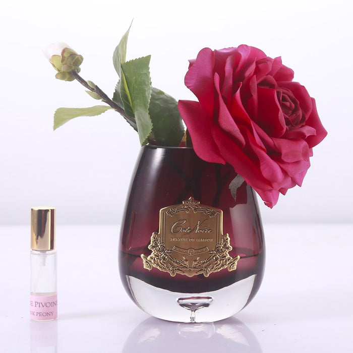 Cote Noire - Tea Rose Black Glass - The Furniture Store & The Bed Shop