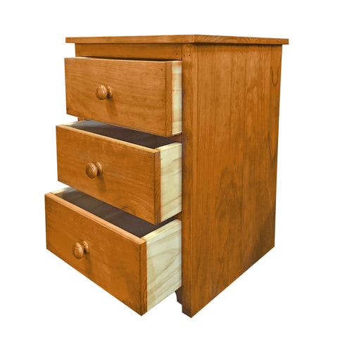 Cottage Bedside - 3 Drawer - The Furniture Store & The Bed Shop
