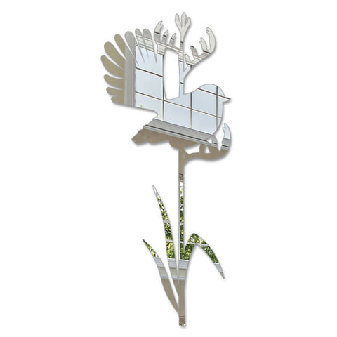 Crystal Ashley Wall Art - Fantail on Tall Flax - The Furniture Store & The Bed Shop
