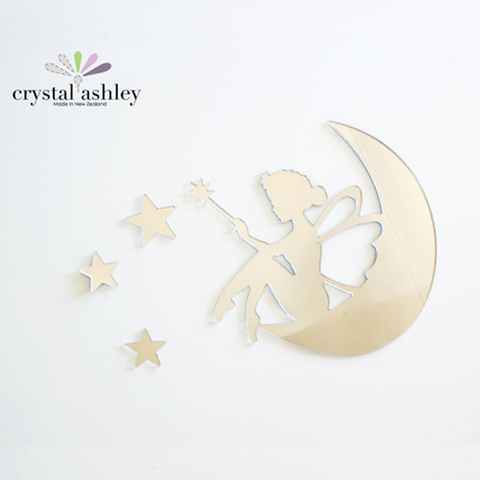 Crystal Ashley Wall Art - Tinkerbell on the Moon - The Furniture Store & The Bed Shop