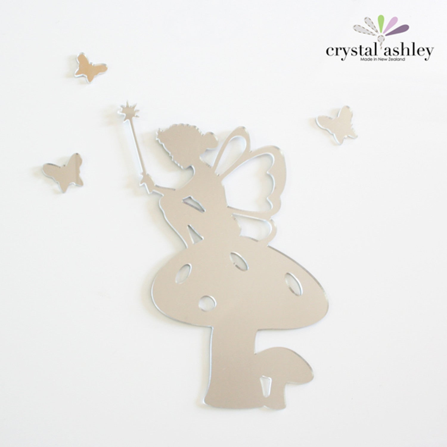Crystal Ashley Wall Art - Tinkerbell on Toadstool - The Furniture Store & The Bed Shop