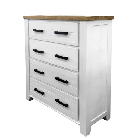 Harlow Tallboy - 4 Drawer - The Furniture Store & The Bed Shop