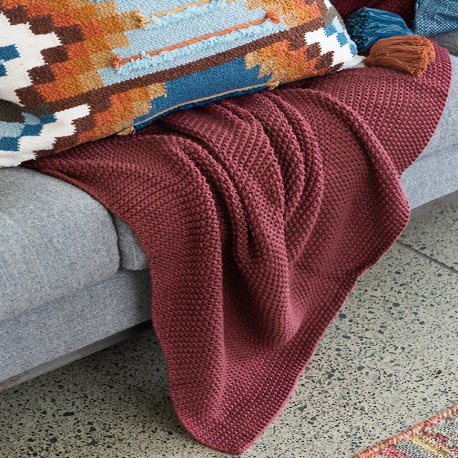 Milford Moss Stitch Throw