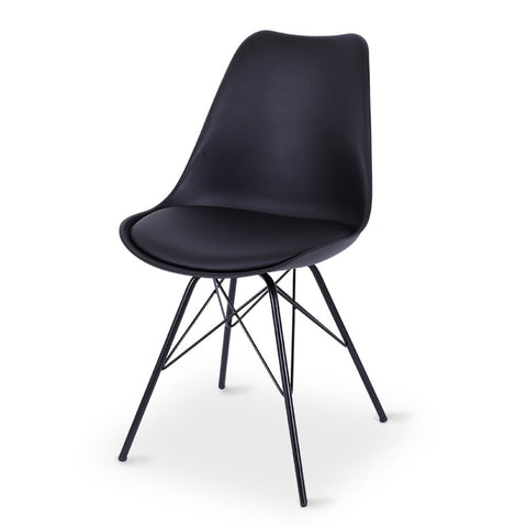 Retro Dining Chair Black