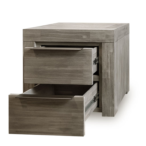 Arctic Bedside - 2 Drawers - The Furniture Store & The Bed Shop