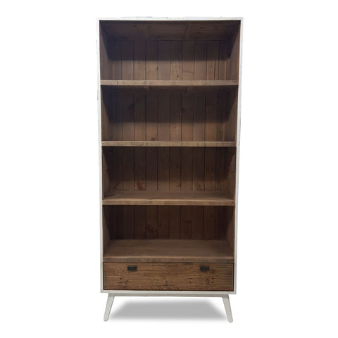 Brooklyn Bookcase - White - The Furniture Store & The Bed Shop