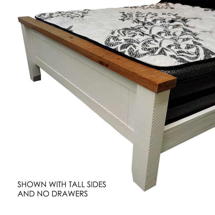 Harlow Bed Frame - Panel Headboard with Drawer Foot - The Furniture Store & The Bed Shop