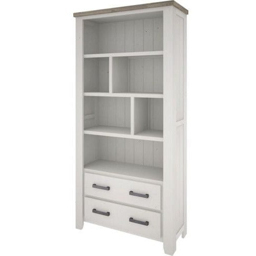 Harlow Bookcase - Wide 2 Drawers - The Furniture Store & The Bed Shop