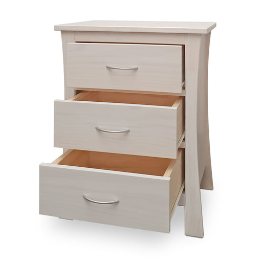 Maddison Bedside - 3 Drawer - The Furniture Store & The Bed Shop