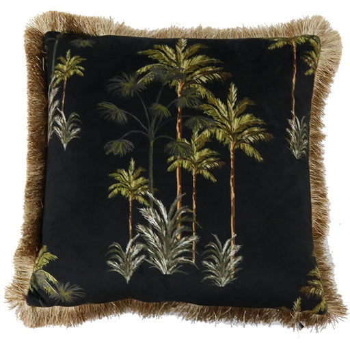 Velvet Palm Tree Cushion