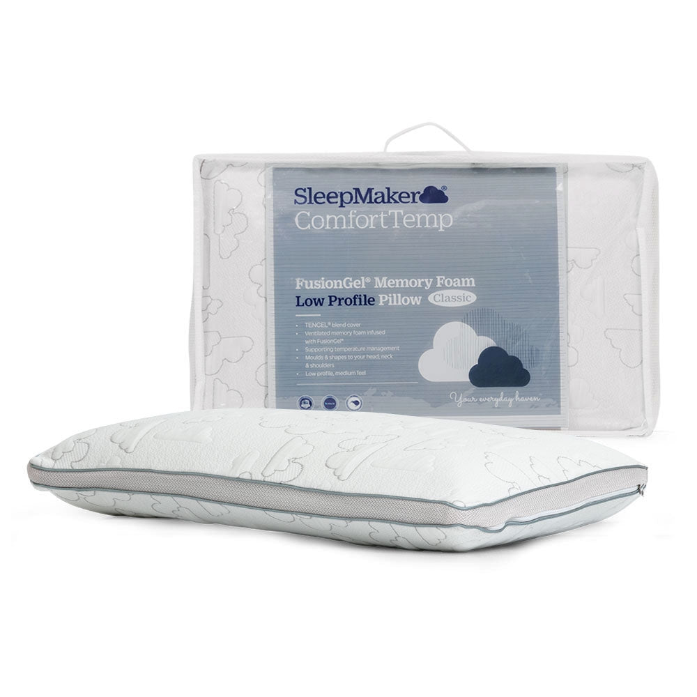 Sleepmaker FusionGel Memory Pillow - Low Profile