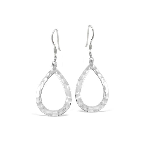 Beaten Teardrop Earrings