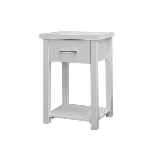 Turner White Bedside Table