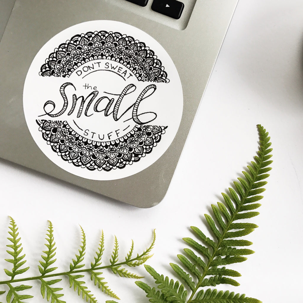 """Small Stuff"" Sticker"