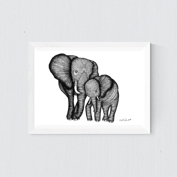 Elephant - Mother and child