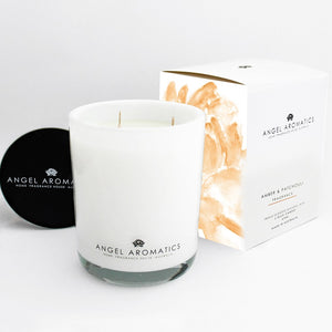 470g Large Glass Candle - Amber Patchouli-candles-Angel Aromatics
