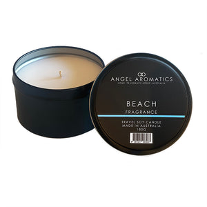 Travel Tin Candles - Beach-travel tin candles-Angel Aromatics