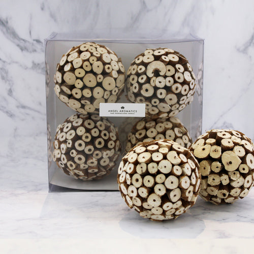 *4pk Boxed Balls Ivory Botswana-box-Angel Aromatics