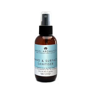 Hand and Surface Sanitiser Spray 100ml - Peppermint & Tea Tree Oil-Hand and Body Wash-Angel Aromatics