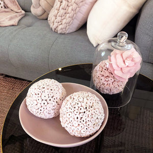 Balsa Wood Decor Large Balls - Light Pink