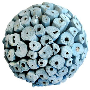 Balsa Wood Decor Large Balls - Light Blue