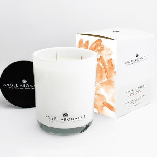 470g Large Glass Candle - Orange Blossom-candles-Angel Aromatics