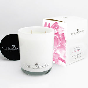 470g Large Glass Candle - Oriental-candles-Angel Aromatics