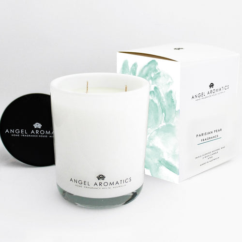 470g Large Glass Candle - Parisian Pear-candles-Angel Aromatics