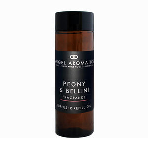 Refill 200ml Reed Diffuser - Peony and Bellini-Diffusers-Angel Aromatics