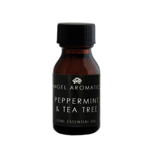 Essential Oil Peppermint and Tea Tree 15ml Oil-Oil Diffuser-Angel Aromatics