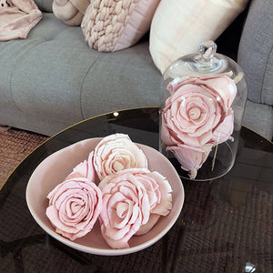 Balsa Wood Flowers Rose - Light Pink