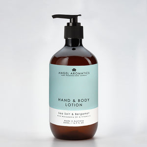 Sea Salt & Bergamot Hand and Body Lotion 500ml-Hand and Body Lotion-Angel Aromatics