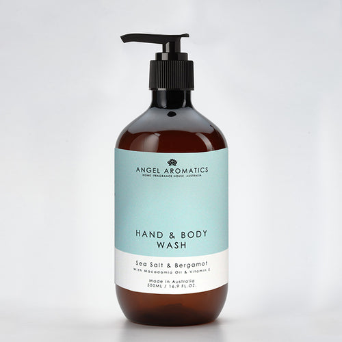Sea Salt & Bergamot Hand and Body Wash 500ml-Hand and Body Wash-Angel Aromatics