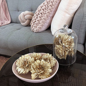 Balsa Wood Ivory Aspen Dahlia Protea Medium