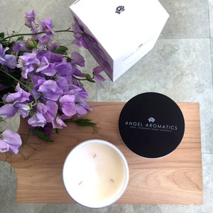 470g Large Glass Candle - Sweet Pea and Violet-candles-Angel Aromatics