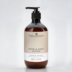 Vanilla and Coconut Hand and Body Lotion 500ml-Hand and Body Lotion-Angel Aromatics