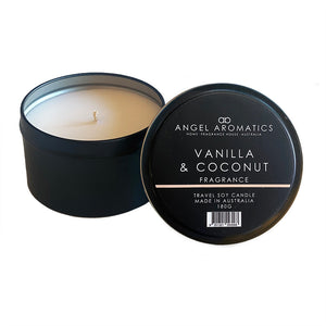 Travel Tin Candles - Vanilla Coconut-Candles-Angel Aromatics