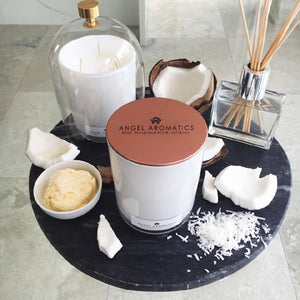 470g Scented Candles - Vanilla Coconut-scented candles-Angel Aromatics