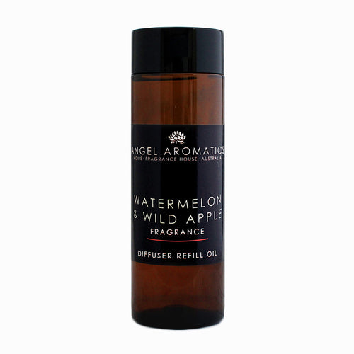 Reed Diffuser Refill 200ml - Watermelon and Wild Apple-reed diffuser refill-Angel Aromatics