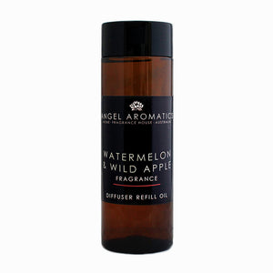 Refill 200ml Diffuser Reed Oil - Watermelon and Wild Apple-Diffusers-Angel Aromatics