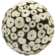 Balsa Wood Decor Large Balls - Ivory Botswana