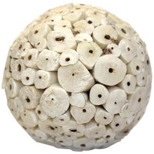 Balsa Wood Decor Large Balls - Ivory