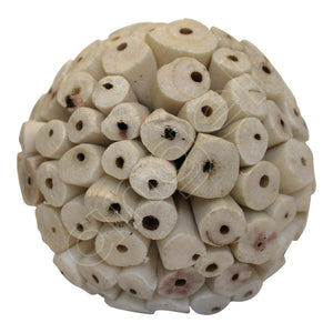Balsa Wood Ivory Baby Ball-Flowers-Angel Aromatics