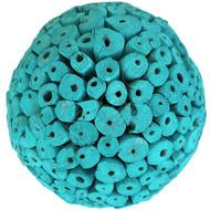 Balsa Wood Decor Large Balls - Tuscan Teal