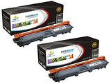 Catch Supplies Replacement Brother TN-221BK Standard Yield Laser Printer Toner Cartridges - Two Pack