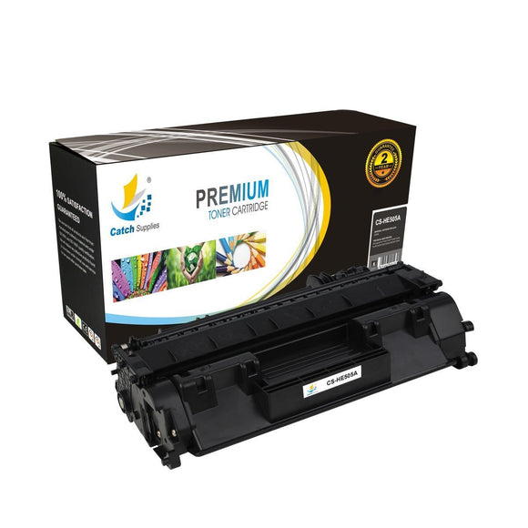 Catch Supplies Replacement CE505A Black Toner Cartridge
