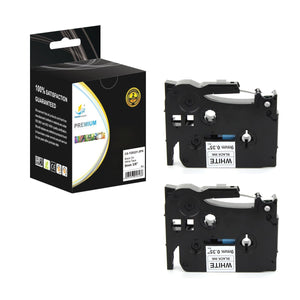 Catch Supplies Replacement Brother TZe-S221 Labels Labeling Tape - Two Pack