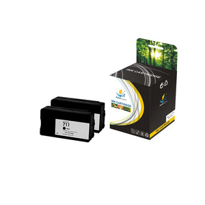 Catch Supplies Replacement HP 711XL CZ133A High Yield Ink Cartridge - 2 Pack