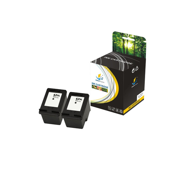 HP 62XL REPLACEMENT INK CARTRIDGE 2 PACK SET - CATCH SUPPLIES